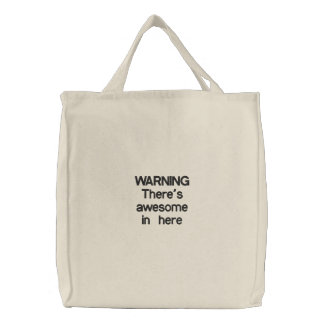 Bag of Awesome Embroidered Tote Bag