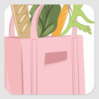 Bag Of Groceries Square Sticker