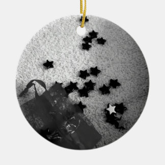 Bag of Stars Round Ceramic Decoration
