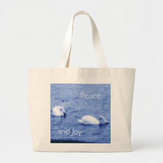 Bag or Tote with Swans in Blue