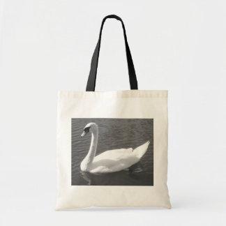 Bag - Swan in Black & White