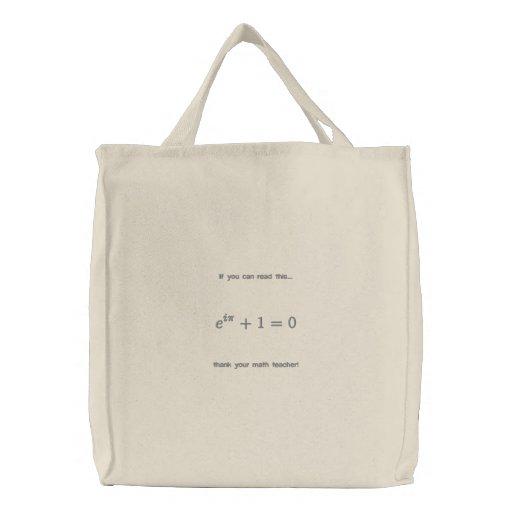 Bag: Thank your math teacher