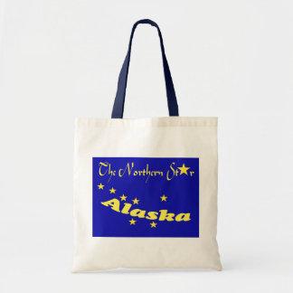 Bag The Northern Star Alaska Flag Stylized Tote