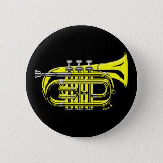 Bag trumpet small trumpet 6 cm round badge