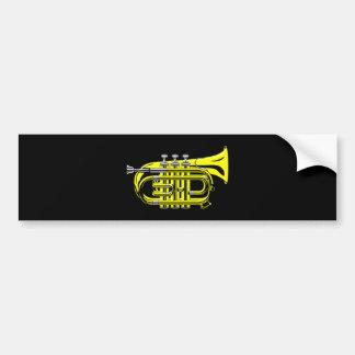 Bag trumpet small trumpet bumper sticker