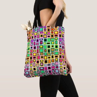 Bag very printed hold-all squares multicoloured