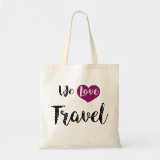 "Bag, ""We love Travel "" Tote Bag"