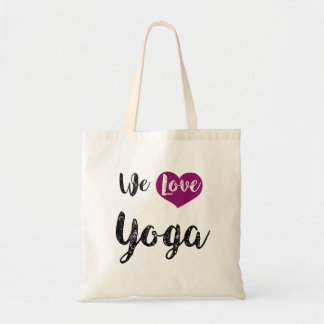 "Bag, ""We love Yoga "" Tote Bag"