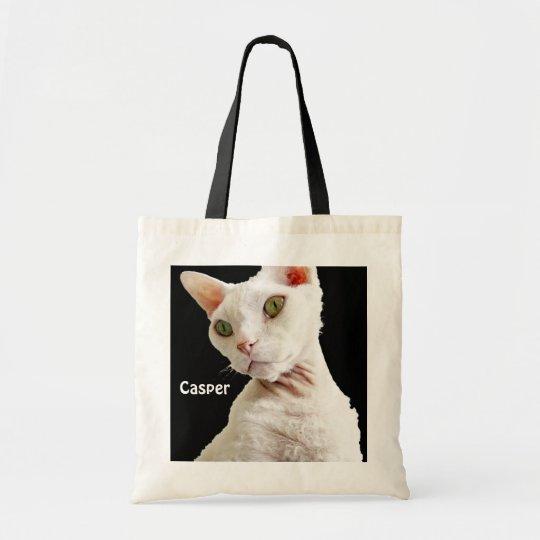 Bag | White Devon Rex Cat Casper