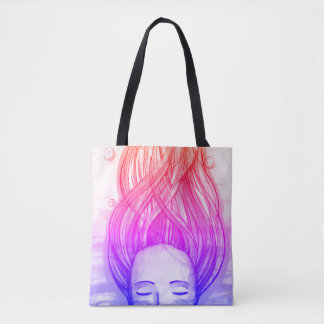 bag with an unusual bright print