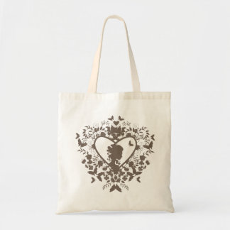 Bag with decorative heart pattern