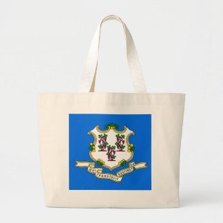 Bag with Flag of  Connecticut State - USA