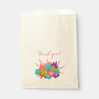 Bag with flowers and text: Thank you!