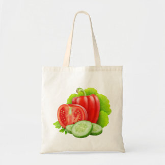 Bag with fresh vegetables