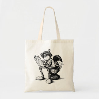 Bag with funny acorn elf