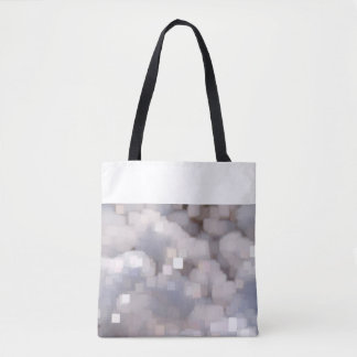 Bag with grey crystal samples and white edge