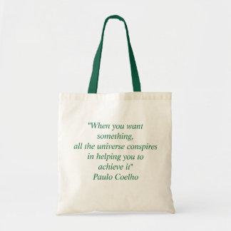 Bag with Paulo Coelho Quote