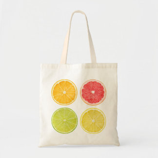 Bag with slices of citrus fruits