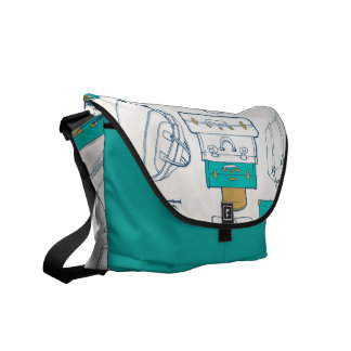 Bag with suitcase motive courier bag