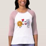 Bagel & Cream Cheese - Cute Valentine Hearts Love T Shirt