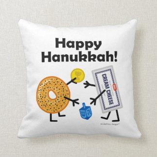 Bagel & Cream Cheese - Happy Hanukkah! Cushion