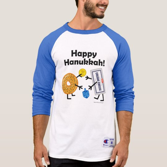 Bagel & Cream Cheese - Happy Hanukkah! T-Shirt