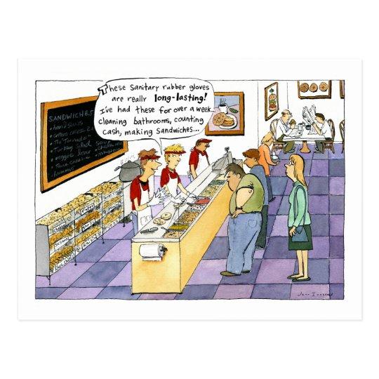 Bagel Shop Cartoon Postcard