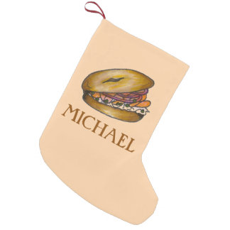 Bagel w/ Lox Capers Cream Cheese Foodie Stocking