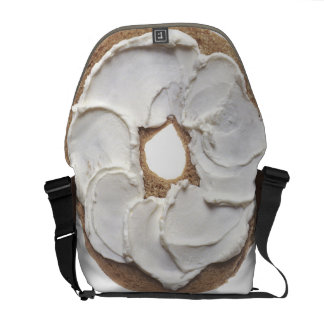 Bagel with Cream Cheese Messenger Bags