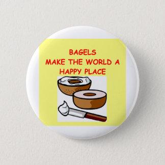 bagels 6 cm round badge