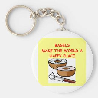 bagels key ring