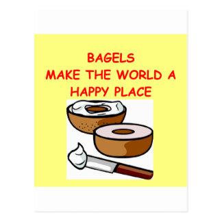 bagels postcard