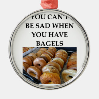 BAGELS Silver-Colored ROUND DECORATION