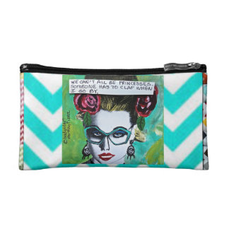 BAGETTE CASE-WE CAN'T ALL BE PRINCESSES. MAKEUP BAG