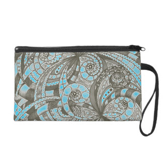Bagettes Bag Drawing floral abstract background Wristlet Clutch