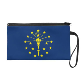 Bagettes Bag with Flag of Indiana, U.S.A. Wristlet Purses