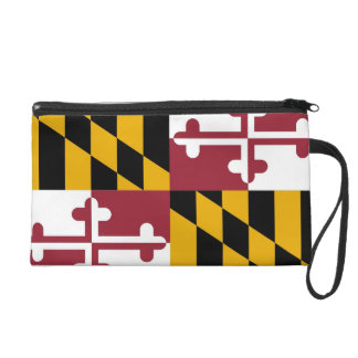 Bagettes Bag with Flag of Maryland, U.S.A. Wristlet