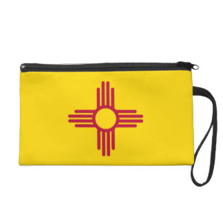 Bagettes Bag with Flag of New Mexico, U.S.A. Wristlet