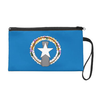 Bagettes Bag with Flag of Northern Mariana U S A Wristlet Clutches