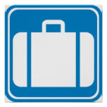 Baggage Check / Claim Highway Sign
