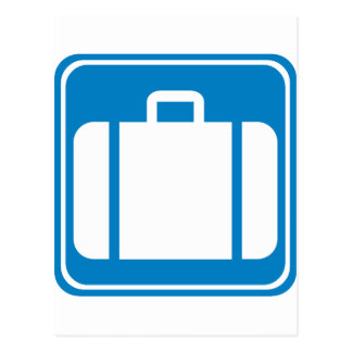 Baggage Check / Claim Highway Sign Postcard