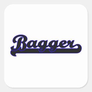 Bagger Classic Job Design Square Sticker