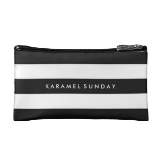 Baggette - KS Signature Nautical Black Cosmetic Bags