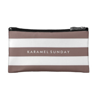 Baggette - KS Signature Nautical Brown Makeup Bag