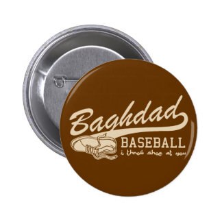 baghdad baseball - i throw shoe at you 6 cm round badge