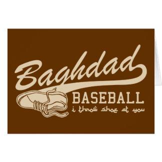 baghdad baseball - i throw shoe at you greeting card