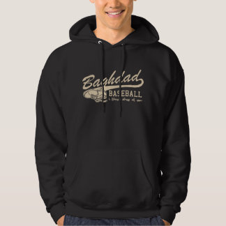 baghdad baseball - i throw shoe at you hoodie