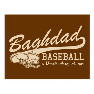 baghdad baseball - i throw shoe at you postcard