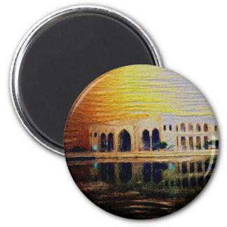 baghdad iraq 6 cm round magnet