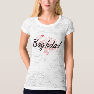 Baghdad Iraq City Artistic design with butterflies Shirts